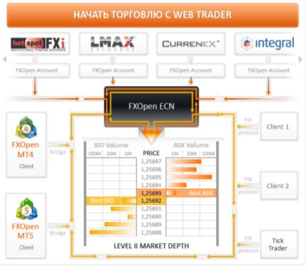 На сайте FXOpen представлен алгоритм работы трейдера с помощью брокера с разными типами счетов и на базе разных версий платформы, чтобы клиент понимал, какие перспективы перед ним открываются.